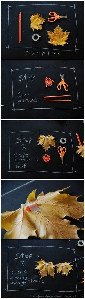Natural Fall Leaf Garland....Best DIY Garland Ideas To Try At Home. Its So Creatively Beautiful!! #diygarlandideas #diycrafts