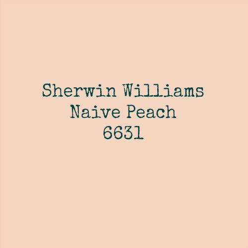Sherwin Williams Naive Peach BHG Color Palette of the Year 2015 Coded