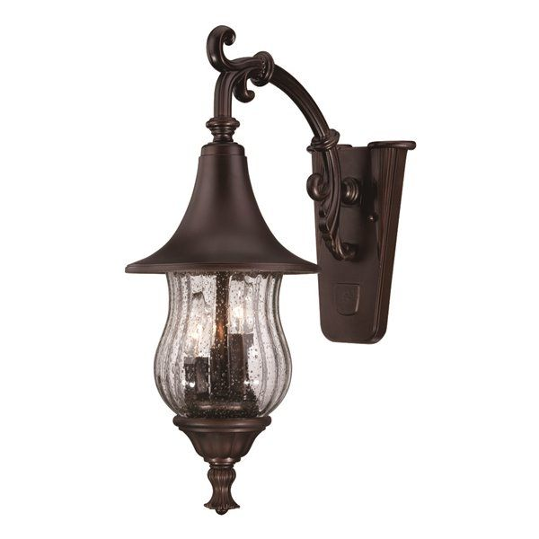 Acclaim Lighting | Del Rio 21-In Bronze 3-Light Downward Mounted Outdoor Wall Lantern | Rona
