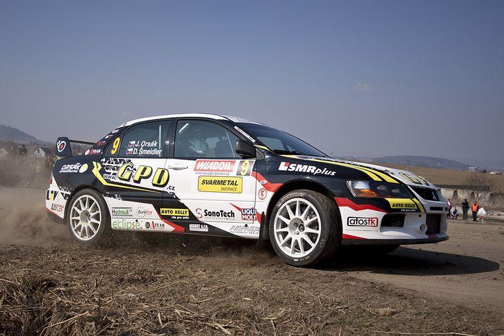 Orsák Rally Sport - J. Orsák (Mitsubishi Lancer Evo IX) - design for season 2012 - Valašská rally 2012.