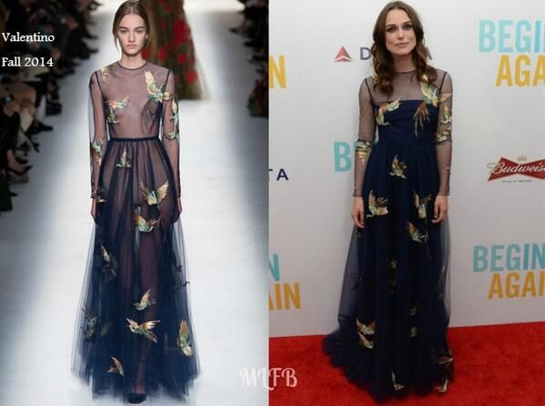 Keira Knightley In Valentino - 'Begin Again' New York Premiere. Re-tweet and favorite it here: https://twitter.com/MyFashBlog/status/482012909757677569/photo/1