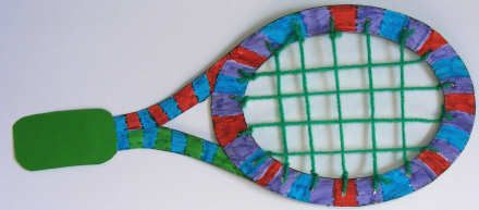 Tennis Racket Craft in honor of Billie Jean King for Women's History Month
