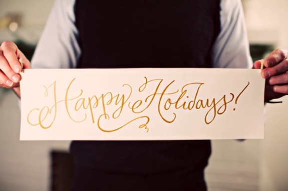 happy holidays: Christmas Signs, Calligraphy, Fonts, Happy Holidays, Vintage Vignettes, Weddings Idea, Christmas Weddings, Gold Scripts, Festivals Holidays
