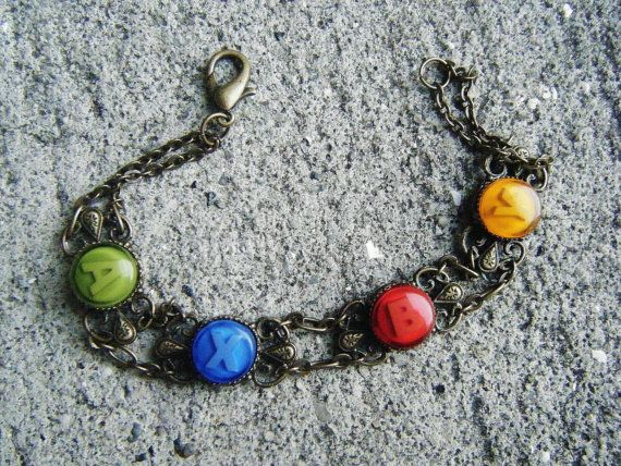 Xbox 360 Button Bracelet by SuperfastSpider on Etsy, $24.99