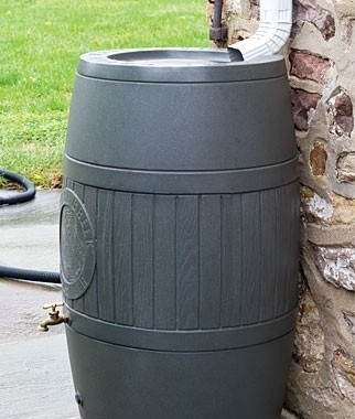 $220, Spruce Creek Rainsaver by Burpee rain barrel is a great way to conserve water for those times when drought strikes. It's amazing how quickly a rain barrel will fill up during a storm, giving you lots of water for your outdoor plants.