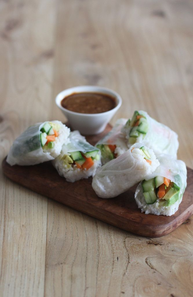 Flavoursome, filling and delicious Vegan Coconut Rice Sushi Wraps with a tasty soy sauce dressing! GF