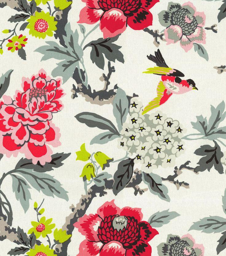 Home Decor Print Fabric- Waverly Candid Moment Ebony