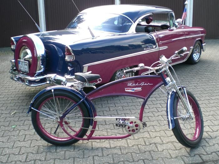 Chevrolet Bel Air and matching Cruiser Bike
