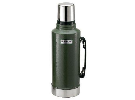 Stanley Classic Vakuum-Flasche, 2 Liter, 18/8 Edelstahl, Hammertone grün, Vakuum Isolation