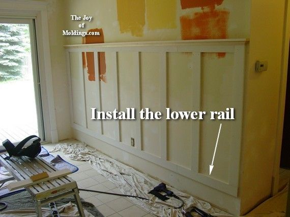Inexpensive Wainscoting Ideas | How to Install Tall WAINSCOTING-100 for About $10.33/ft | The Joy of ...
