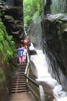 The Flume Gorge in  Lincoln, New Hampshire.
