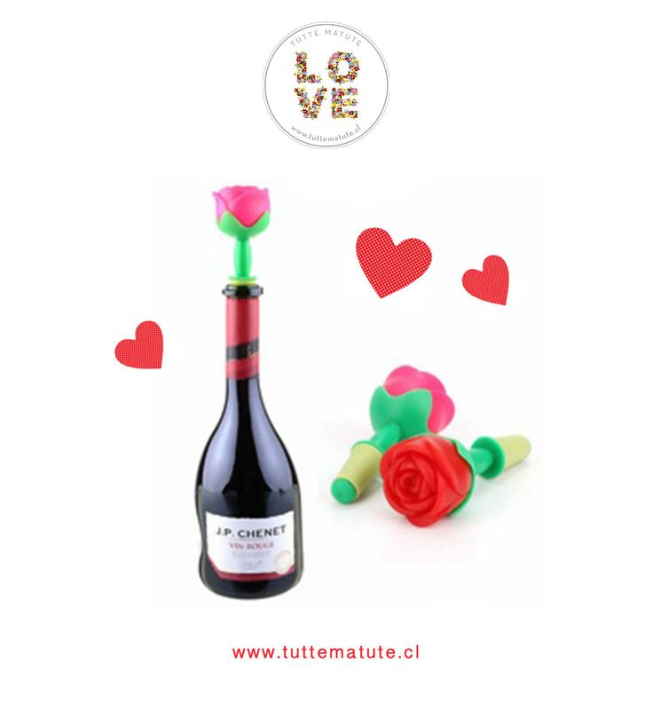 ¡Tapa tus botellas de vino o champagne con estilo! Tapón para botellas en forma de flor.  http://www.tuttematute.cl/tapon-para-botella