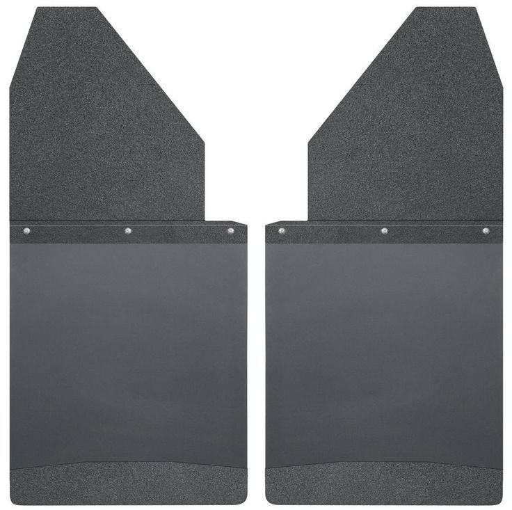Husky Liners Universal 14inch Wide Black Top and Weight Kick Back Mud Flaps
