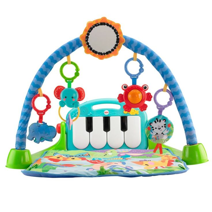 With 4 ways to play, an extra-comfy mat, and now with a removable piano,  the Kick and Play Piano Gym by Fisher-Price turns ordinary play into an ... e626a5e0683