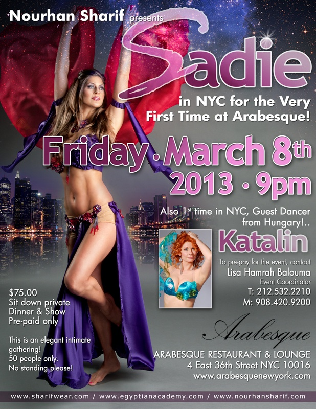 Sadie Bellydancer, First time in NYC!! don't miss out workshops and dinner/performance party!  #Belly dance Party, #Sadie Belly dancer, #Egyptian Bellydance, #Belly dance dinner
