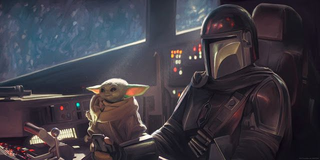 The Geeky Nerfherder Coolart Star Wars The Mandalorian Print By Ca In 2020 Mandalorian Star Wars Star Wars Timeline
