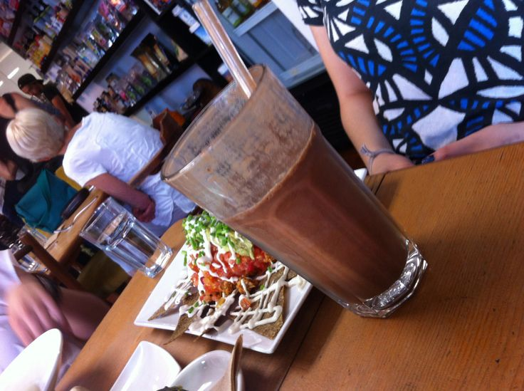 Raw cacao smoothie at Raw Kitchen in Fremantle. Yummy and vegan and dairy free!