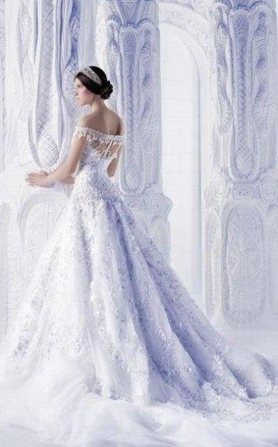 Inspiration pour un mariage en hiver - la robe de mariée givrée