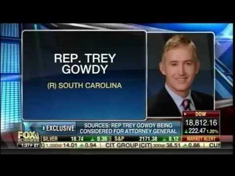 This would be AWESOME - Breaking Trey Gowdy Trump attorney General serious consideration Novembe...