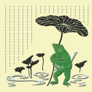 ほつま高蒔絵シール 時雨カエル