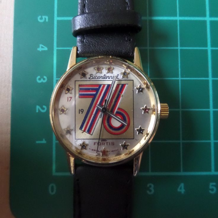 1976 Swiss made - FORTIS TUXEDO BICENTENNIAL 1776-1976  - Untouched, Guaranteed Genuine, extremely rare gents mechanism wristwatch. by EWcoLondon on Etsy