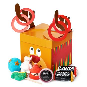 Reindeer Games Christmas Gift from Lush, last day for Christmas shipping! This includes one of the LUSH favorites, the Bath Bomb, in ButterBear, and many more yummy things for this cute set that is a great gift for anyone! 100 percent cruelty free and vegan always!