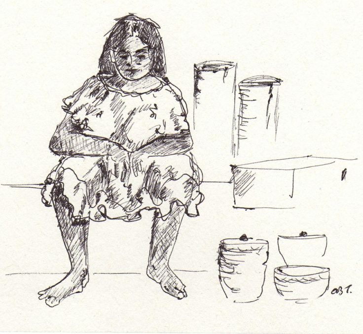 poor woman in the market, Belize. Quick sketch done on the back of my cheque book!