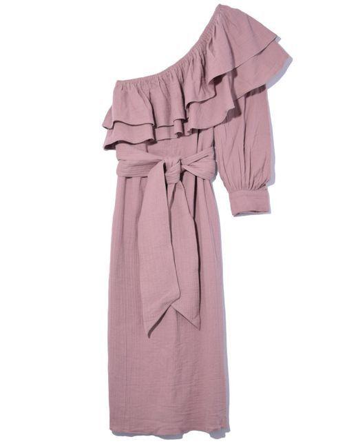 Apiece Apart Rock Rose One Shoulder Dress in Mauve
