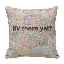 RV Throw pillow  Rv there yet US map fun Rv gift  by Mapology