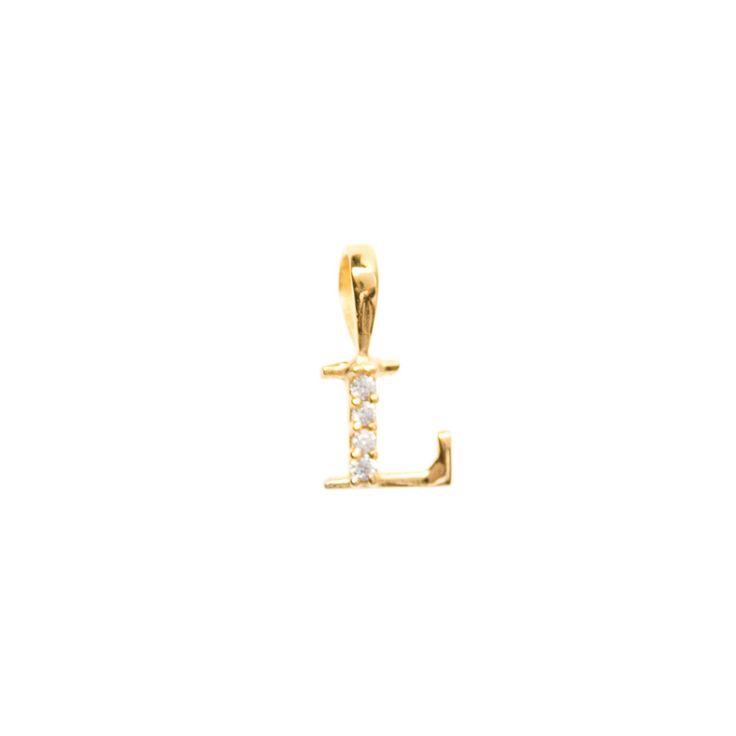 Gold initial 'L' pendant
