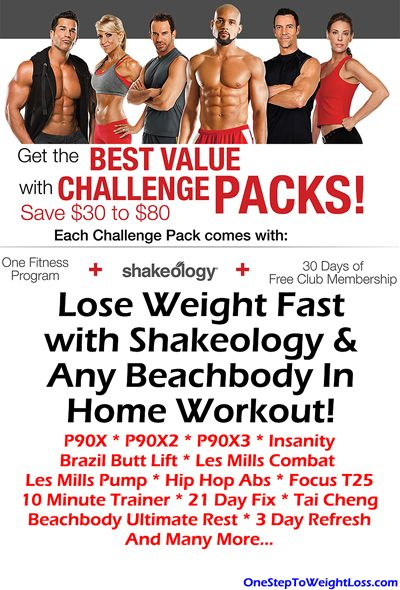 You read the Shakeology reviews & results and are now ready lose weight and get healthy! Here's the best way how: http://www.onesteptoweightloss.com/beachbody-challenge-packs #ShakeologyResults