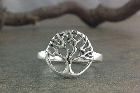 Anillo árbol de la vida ~ anillo de plata esterlina de árbol de la vida ~ anillo de árbol celta de la vida ~ anillo del árbol de familia de Sterling                                                                                                                                                                                 Más