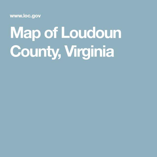 Map of Loudoun County, Virginia