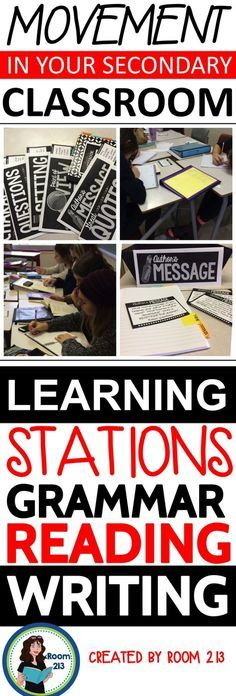 HIGH SCHOOL ENGLISH: Stations for grammar, independent reading, discovering theme, essay revision, story writing and more.