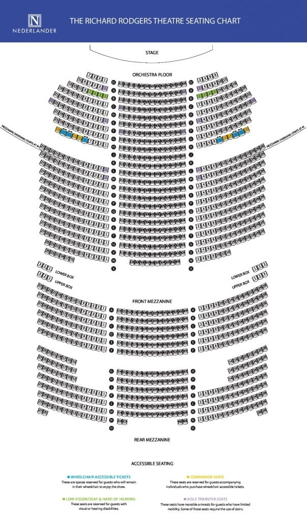 Richard Rogers Theater Seating Chart Seating Charts Richard Rodgers Seating Plan