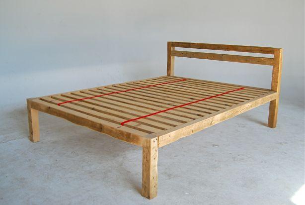 wooden platform bed frame plans