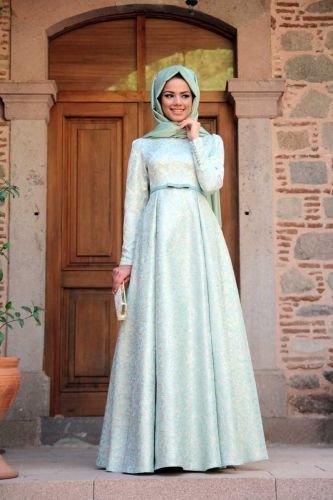 Mevra Mevra - Mint Brokar Elbise