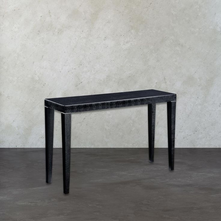 Boutique Black and Silver Console Table, Black/Silver