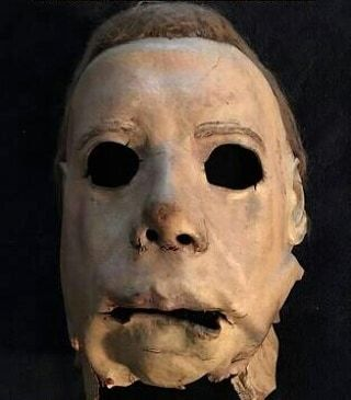 "The Original MICHAEL MYERS/THE SHAPE Mask As It Looks Today From ""HALLOWEEN"" (1978)."