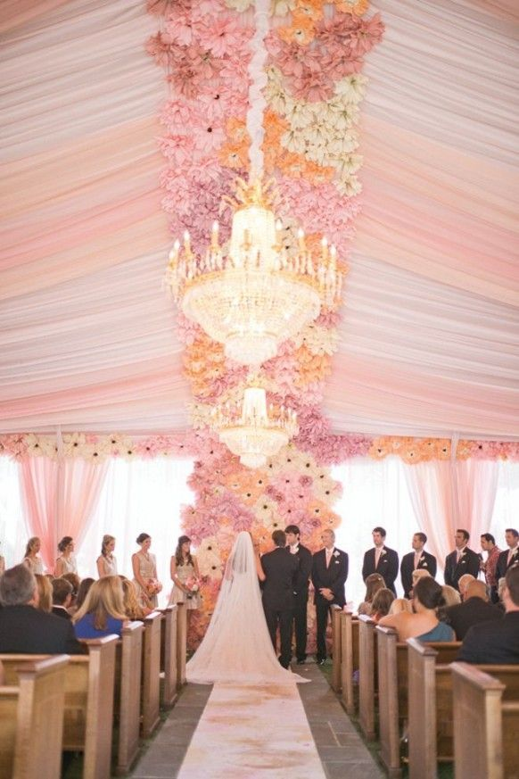 Inspired June Wedding Ideas Pastel Pink Tent Chandelier Decor Www Dreamyweddingideas 2017 Stunning Pinterest