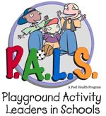 P.A.L.S. A playground leadership program for schools that encourages all children to participate in activities during recess breaks.