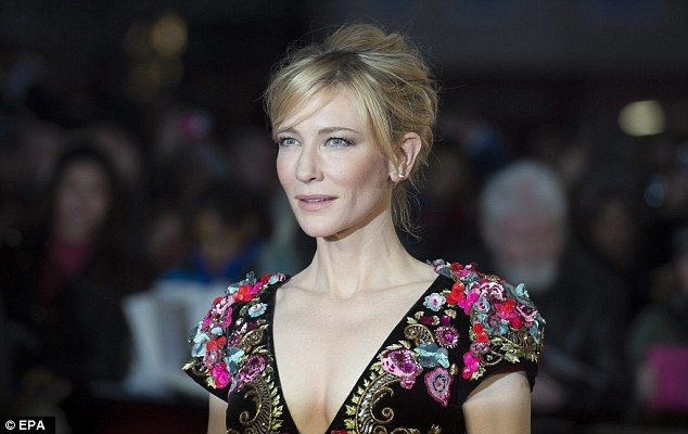 Back for more:It's the second glittering premiere for Cate at the London Film Festival this week, after she teamed up with Rooney Mara on Thursday for promo duties for their anticipated 1950s set drama Carol