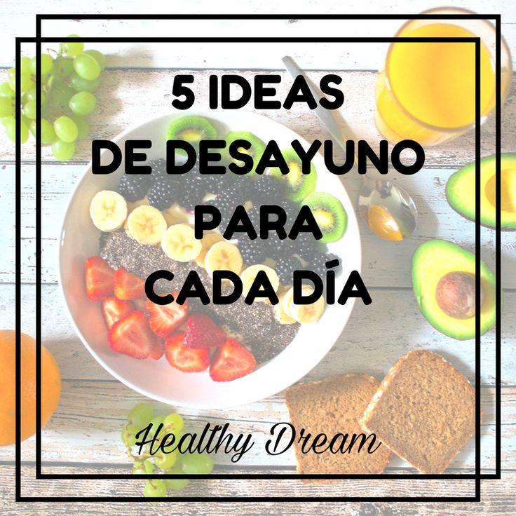 El desayuno va más allá del café con leche, zumo y croissant. Por eso te explico qué puedes y qué no debes desayunar, y te doy 5 ideas fáciles y saludables de desayuno para cada día.
