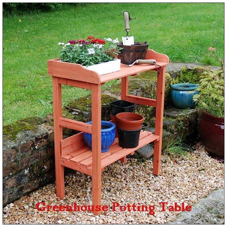 Greenhouse Potting Table Wooden Workbench Multi Purpose