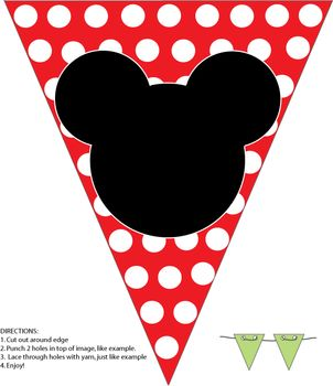 free printable banner minnie and mickey | Mickey Banner, Mickey Mouse, Party Decorations - Free Printable Ideas ...