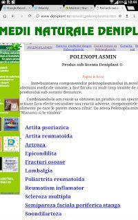 PSORIAZIS-CORESPONDENTA DENIPLANT: Polenoplasmin pentru reumatism