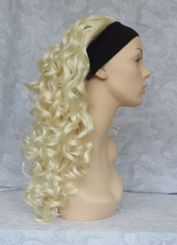 HIVISION-Long-Curly-Blonde-Brown-Synthetic-HeadBand-Wig-Wigs-83