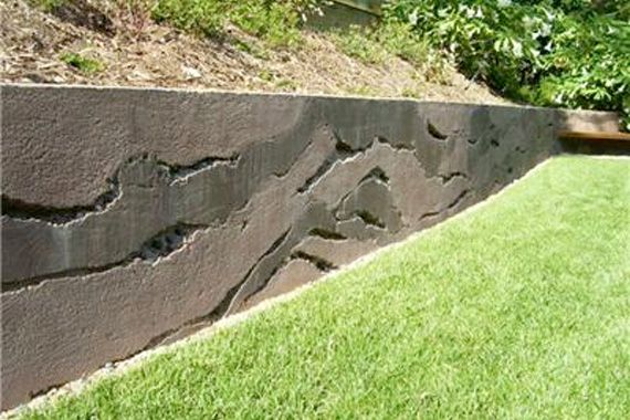 !! LOVE LOVE LOVE!! The geologist in me says I have to have this wall in my yard!  Cheap And Easy Landscaping Ideas | ... Landscape Design, Inc. Image: Earth Works Lawn & Landscape, Vicksburg