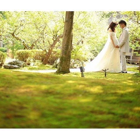【atelier_casha】さんのInstagramをピンしています。 《*夏フォトウェディング* . . こちらは9月に撮影した一枚 そしてマタニティのお嫁ちゃん(o^^o) . . 苔の絨毯と紅葉の緑があざやかなシーズンはまだまだ続きます。 . . . #アトリエカーシャ #フォトウェディング #ウェディングフォト #エンパイアドレス #苔 #森 #森の花嫁 #ナチュラルウェディング #ウェディングフォト #前撮り #後撮り #京都前撮り #洋装前撮り #洋装ヘアアレンジ #花冠 #ロケーション撮影 #記念日 #アニバーサリーフォト #マタニティ #マタニティフォト #庭園 #京都 #プレ花嫁 #卒花嫁 #花嫁準備 #結婚式 #結婚準備》