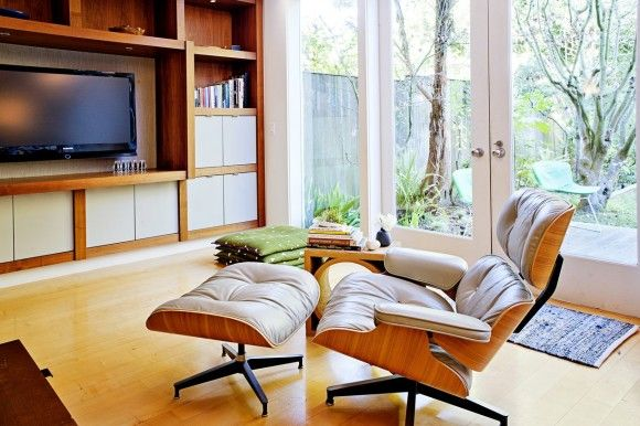 workspace wood windows stainless modern MCM marble living room kitchen house tour Eames Lounge Chair color accessory  Japanese Trash masculi...